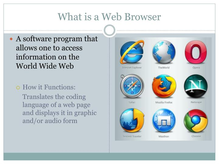 What is a web browser