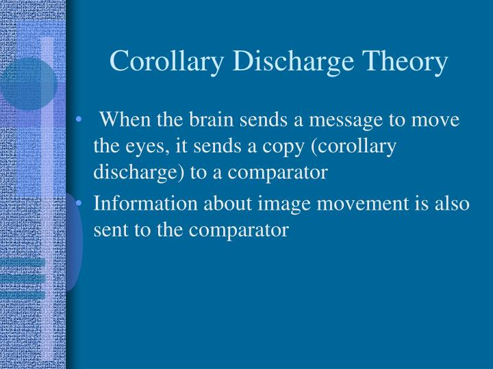 Corollary Discharge Theory