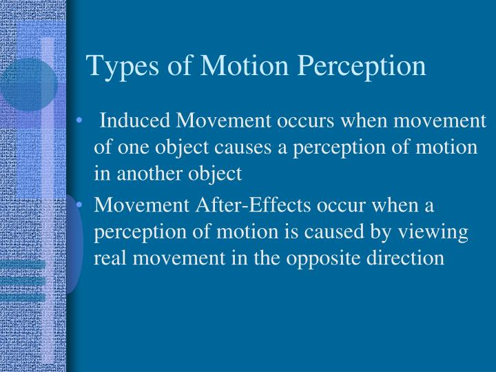 Types of motion perception1
