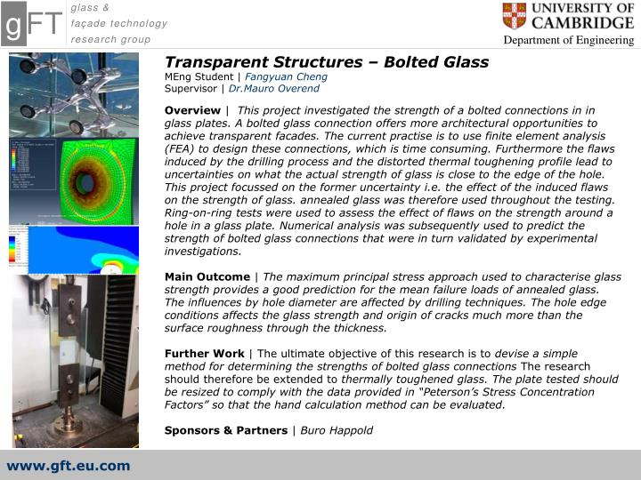 Transparent Structures – Bolted Glass