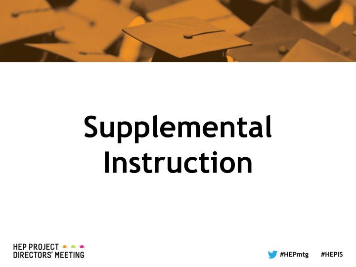 Supplemental Instruction