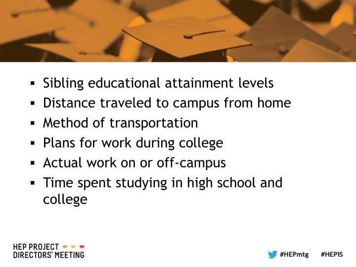 Sibling educational attainment levels