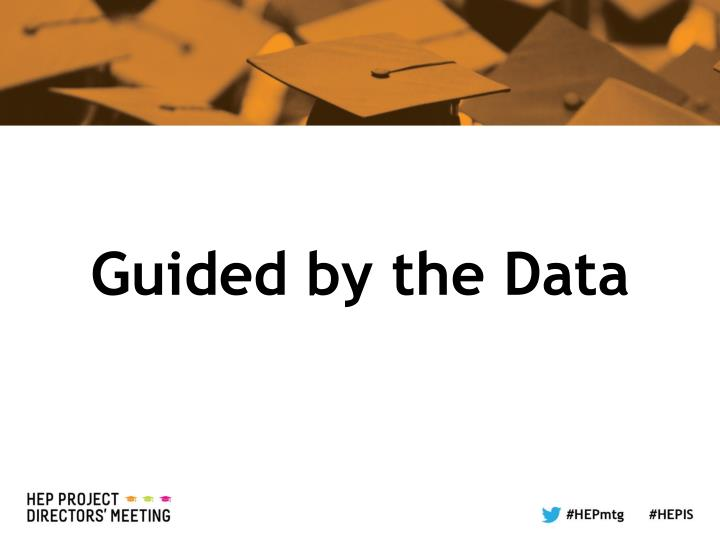 Guided by the Data