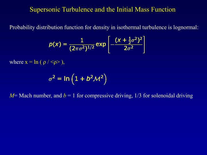 Supersonic Turbulence and the Initial Mass Function