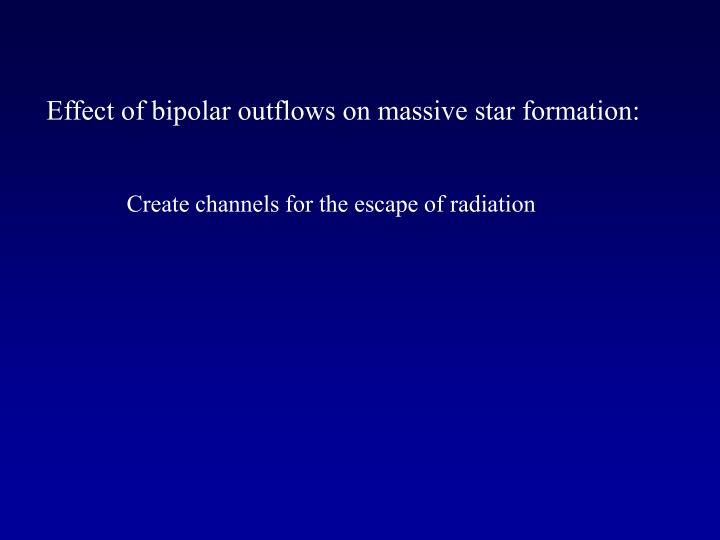 Effect of bipolar outflows on massive star formation: