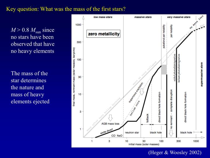 Key question: What was the mass of the first stars?