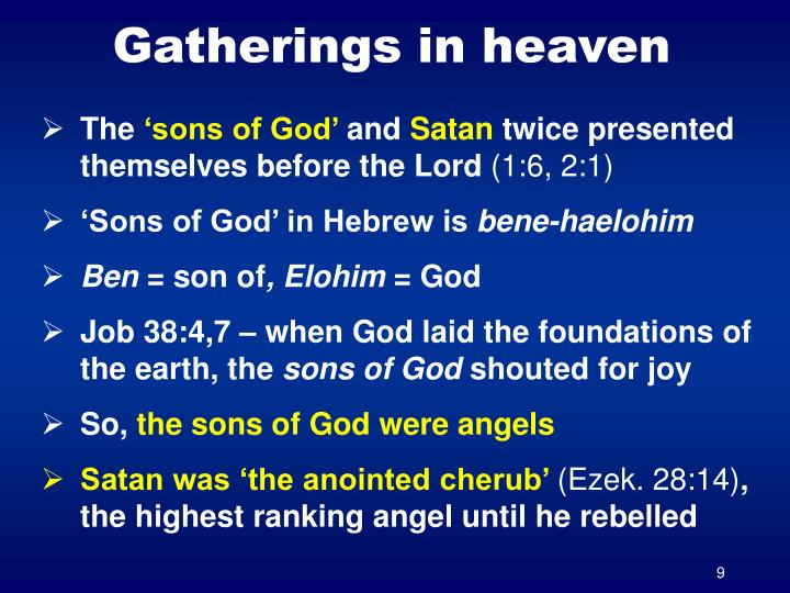 Gatherings in heaven