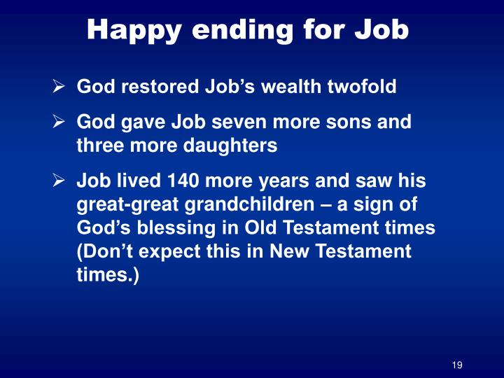 Happy ending for Job