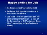 happy ending for job