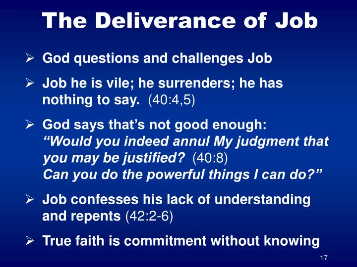 The Deliverance of Job