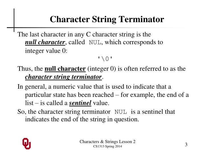 Character String Terminator