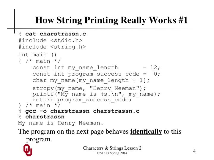 How String Printing Really Works #1
