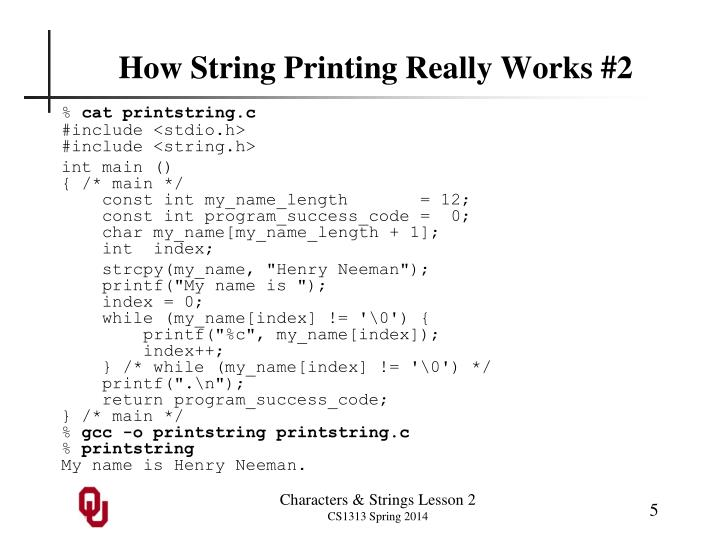 How String Printing Really Works #2
