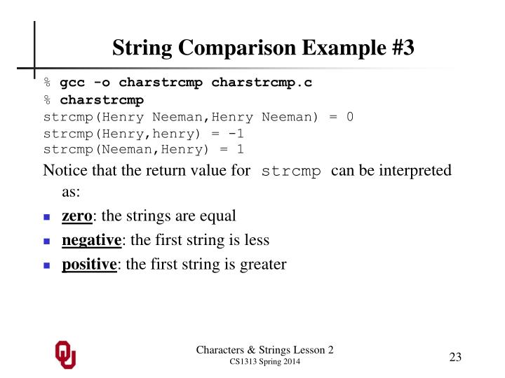 String Comparison Example #3