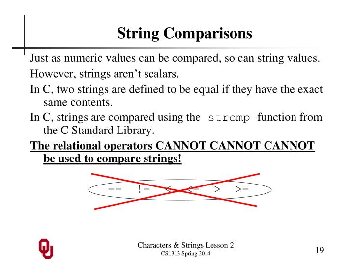 String Comparisons