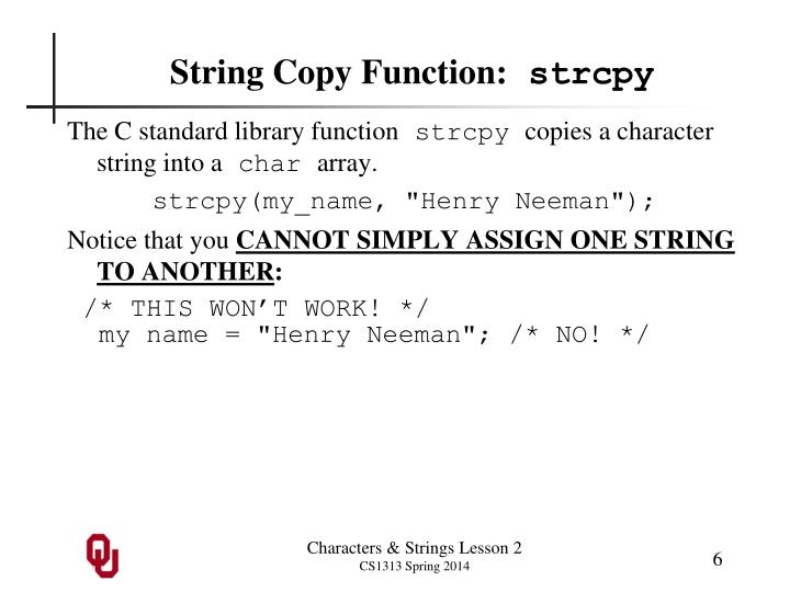 String Copy Function: