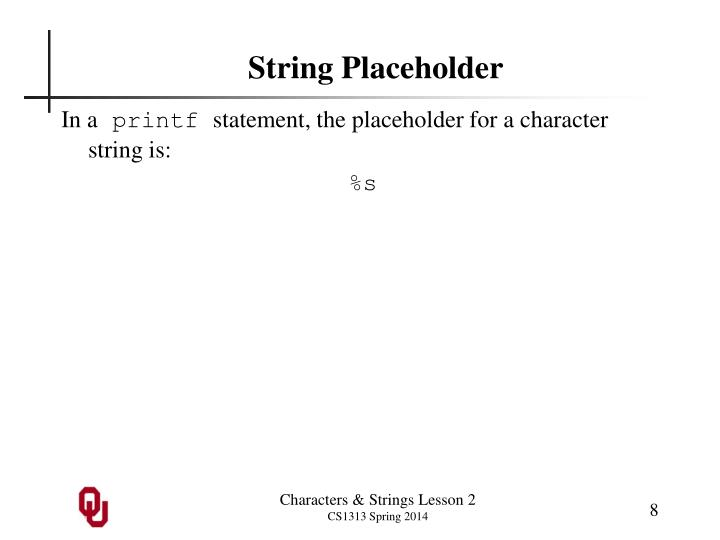 String Placeholder