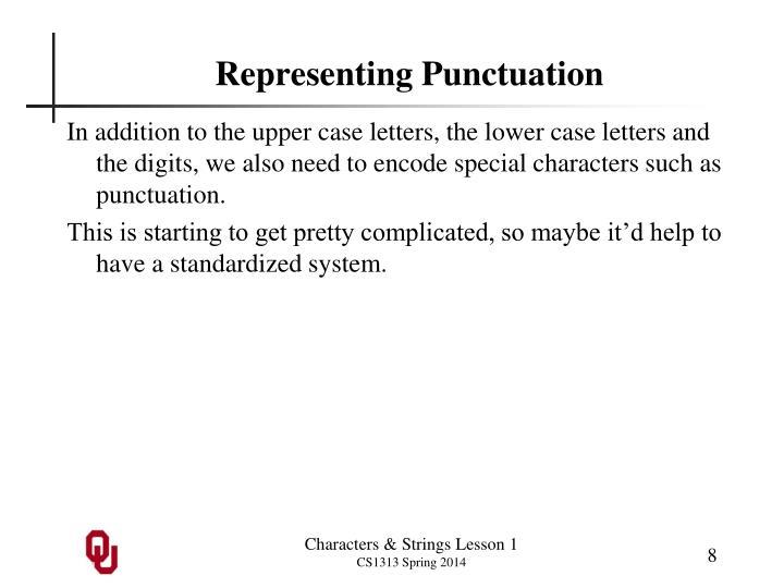 Representing Punctuation