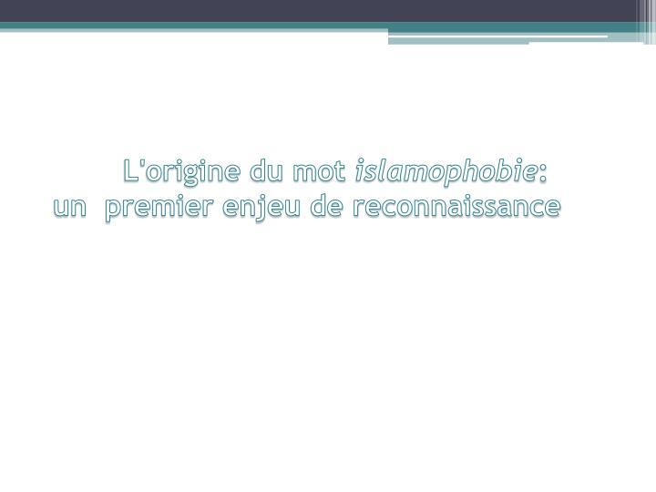 ppt - islamophobie powerpoint presentation