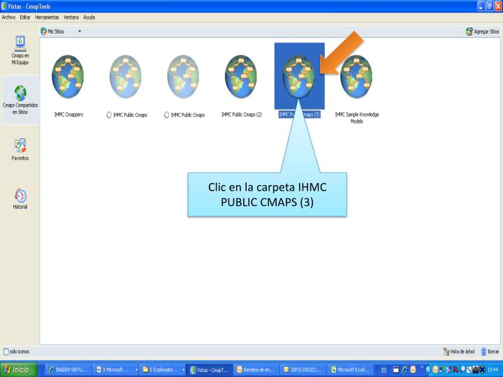 Clic en la carpeta IHMC PUBLIC CMAPS (3)