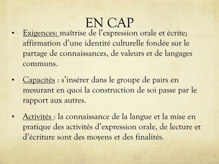 EN CAP