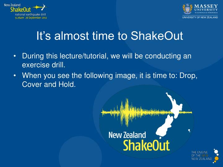 It's almost time to ShakeOut