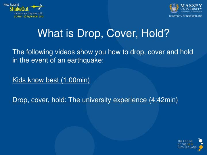 What is Drop, Cover, Hold?