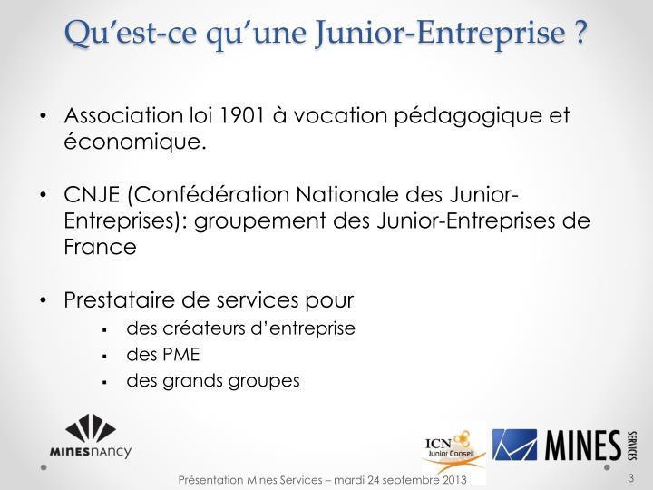 Qu'est-ce qu'une Junior-Entreprise