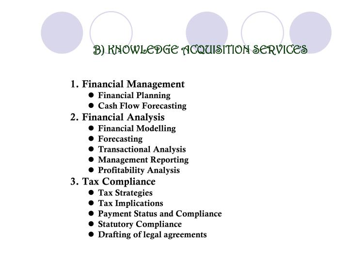 B) KNOWLEDGE ACQUISITION SERVICES