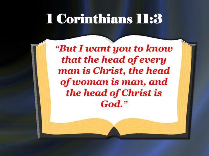 1 Corinthians 11:3