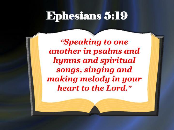 Ephesians 5:19