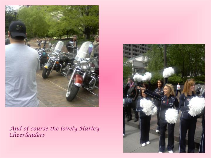 And of course the lovely Harley Cheerleaders