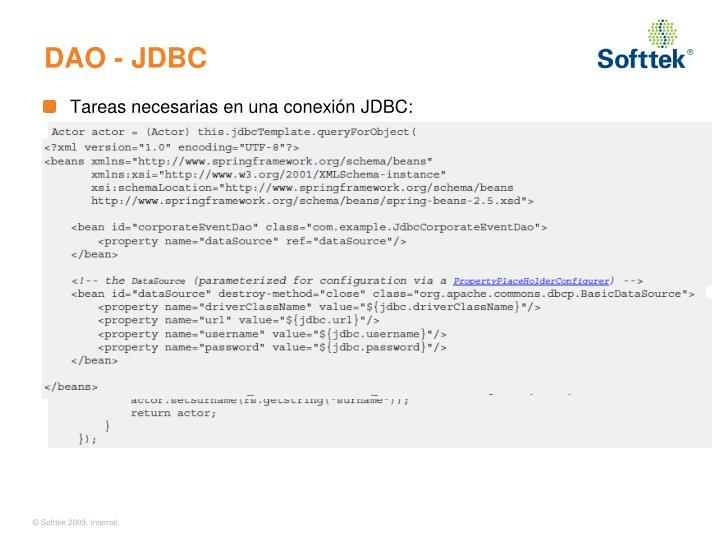 DAO - JDBC