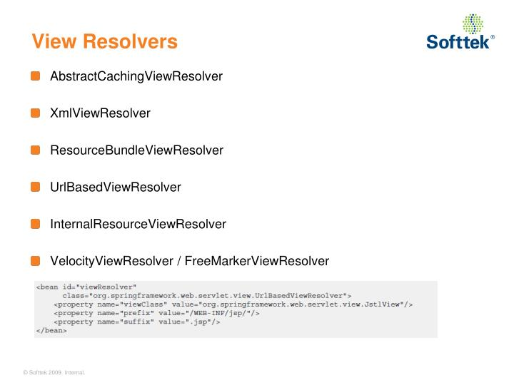 View Resolvers