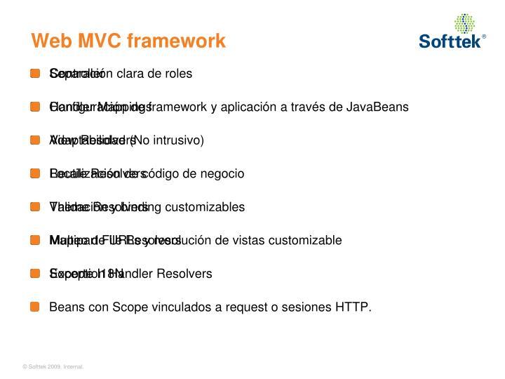 Web MVC framework