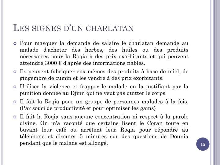 Les signes d'un charlatan