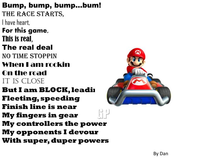 Bump, bump, bump…bum!