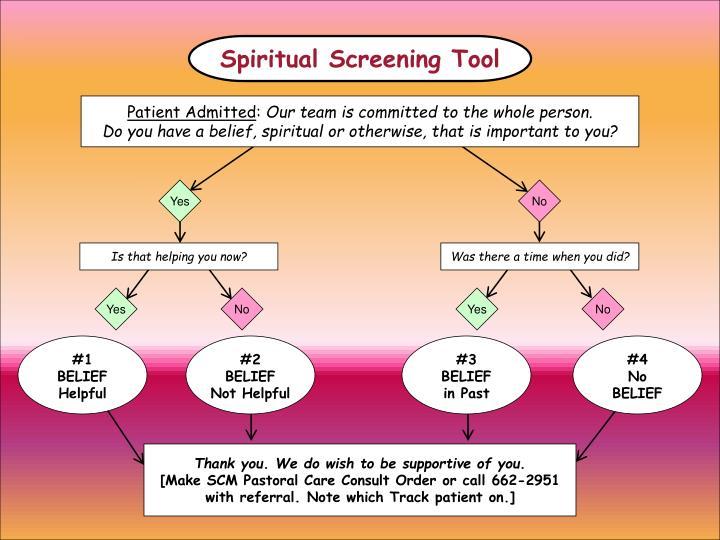 Spiritual Screening Tool