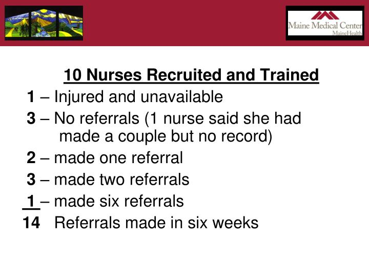 10 Nurses Recruited and Trained