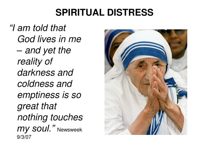 SPIRITUAL DISTRESS