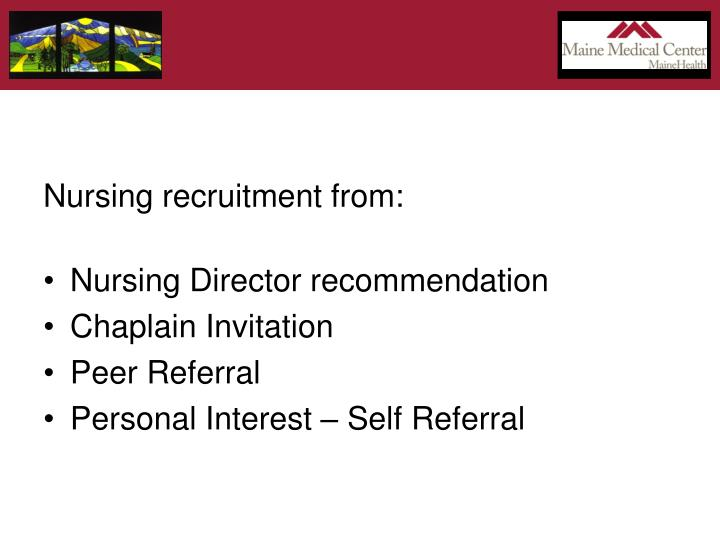 Nursing recruitment from:
