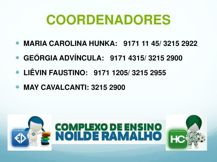 COORDENADORES