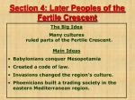 section 4 later peoples of the fertile crescent