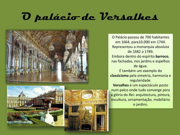 O palácio de Versalhes