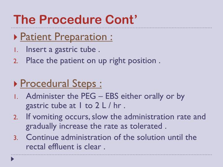 The Procedure Cont'