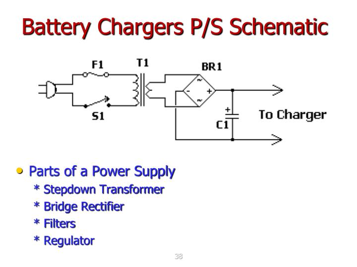 Battery Chargers P/S Schematic
