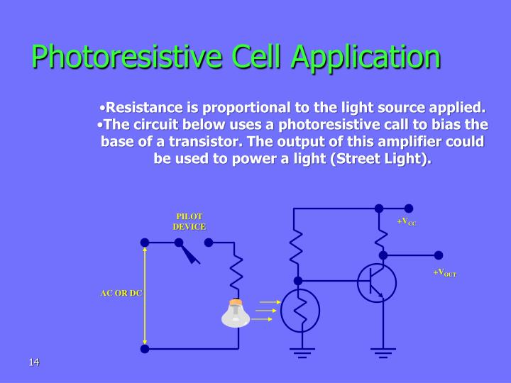 Photoresistive Cell Application