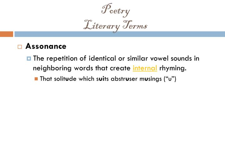 Poetry literary terms1