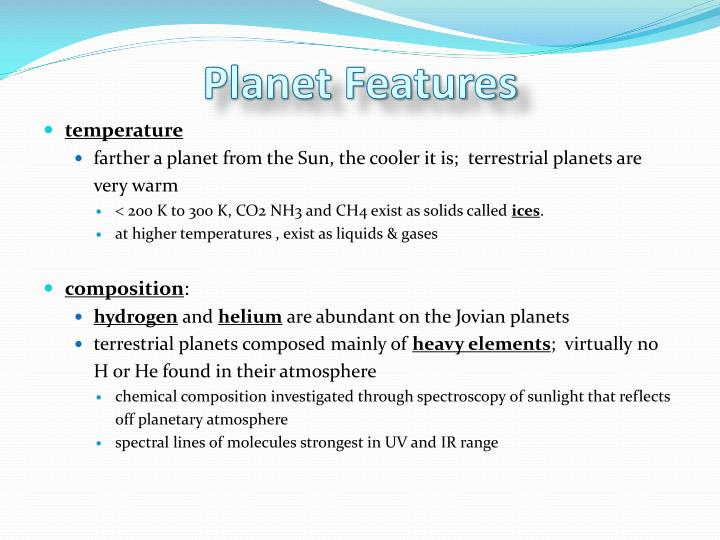 Planet Features