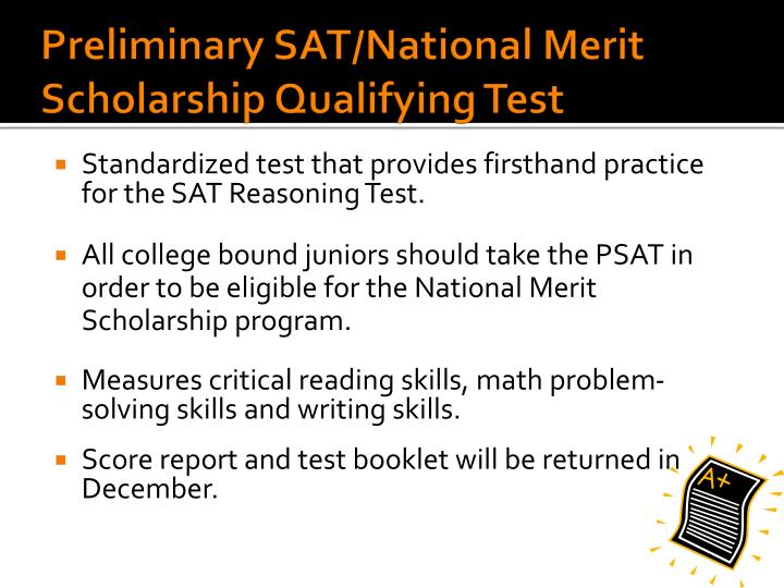 Preliminary SAT/National Merit Scholarship Qualifying Test